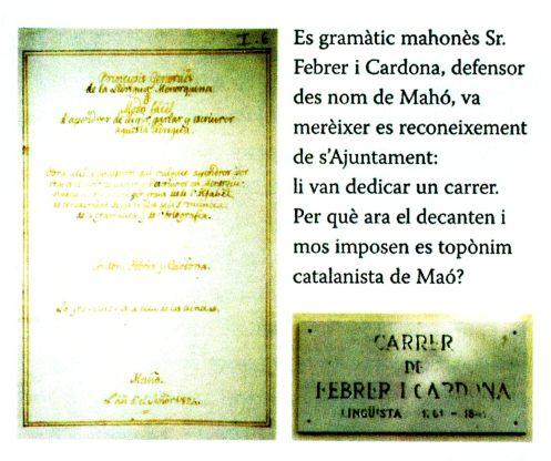 ''Iniciativica Cívica Mahonesa'', Document en sa Llengo Pròpia i Vertadera de Balears