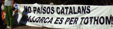 Pancarta Mallorquinista